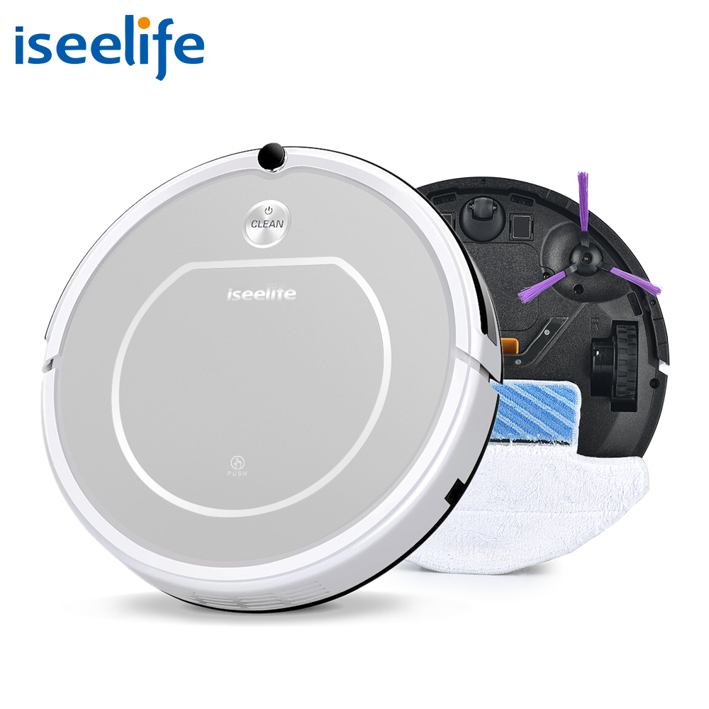 Robot Vacuum Cleaner 2in1 Dry Wet Mop 800PA HEPA Filter Daily Plan Vaccum Roboter Cleaning Machine ISEELIFE ROBOT ASPIRADOR(China (Mainland))