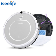Robot Vacuum Cleaner 2in1 Dry Wet Mop 800PA HEPA Filter Daily Plan Vaccum Roboter Cleaning Machine ISEELIFE ROBOT ASPIRADOR(China)