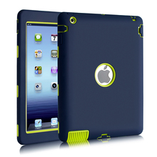 Amor Heavy Duty Drop resistance Shock Proof tablet Case For Apple ipad 2/ipad 3 4 Heavy Rubber&Plastic Duty Silicone Hard Case