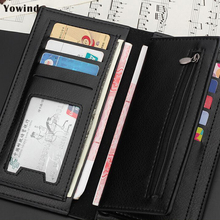 Top Quality Men Wallets Brand Purse Long style Male Clutch Leather Zipper Wallet Men Business Male Wallet Coin bag