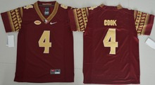 2016 Nike Youth Florida State Seminoles Dalvin Cook 4 College Ice Hockey Jerseys - Red Size S,M,L,XL(China)