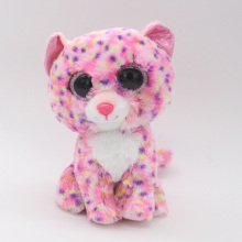 "Ty Beanie Boos Big Eyes 6"" Plush Pink Leopard Animal Toys"