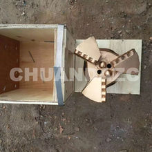 Factory Outlet 151mm three wing drag bits,PDC drag bit for mining drilling,water well drilling bit(China)