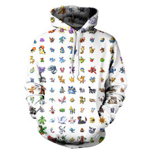 POKEMON GO ANIME HOODIE Women Men pokemongo cartoon characters Hooded Sweatshirts Fashion Clothing Jumper Outfits Casual Tops