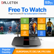 Dalletektv Android TV Box Quad Core Smart IPTV HD STB TV Receivers arabic iptv italia subscription 1 year Europe Media Player(China)