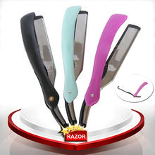 Hot sell barber shaving razor folded hair tonsure knife hair cut knife eyebrow trimer salon hair razor(China)