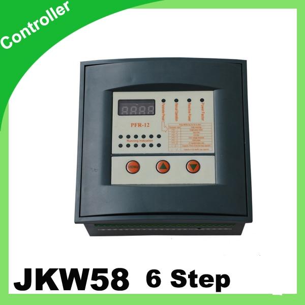 JKW58 PFR Reactive power factor controller compensation 6 step 380v PRCF<br>