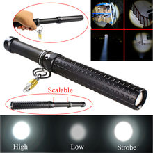 Hot Selling 2000 Lumen CREE Q5 LED Zoomable Baseball Bat Flashlight Security Torch Lamp 3 Mode For 1x18650 3xAAA