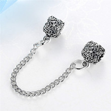 Free Shipping New 2017 Safety Chain Bead Fit Pandora Bracelets & Bangles Necklace Diy Beads Charms For Women Jewelry YW15235