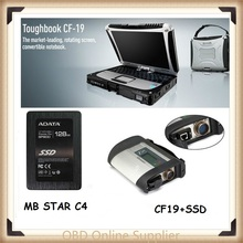 Panasonic CF19+MB Star C4 SD+Xentry Vediamo DTS Diagnostics System Compact 4 Mercedes Diagnosis Multiplexer For Benz Diagnose(China)