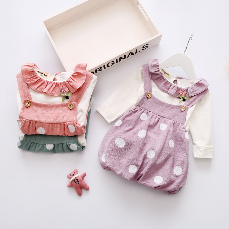 Spring Direct Selling Hot Sale Casual Full 2017 New Baby Clothes Girls Skirt Sling Dress Girl Beautiful Candy Princess Set