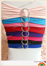 spandex band with plastic buckle for chair covers/spandex band