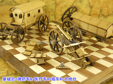 Wooden scale model weapons napoleon period NAPOLEON CANNON+BIG PLATFORM+AMBULANCE+AMMUNITION WAGON+TRAILER scale military models