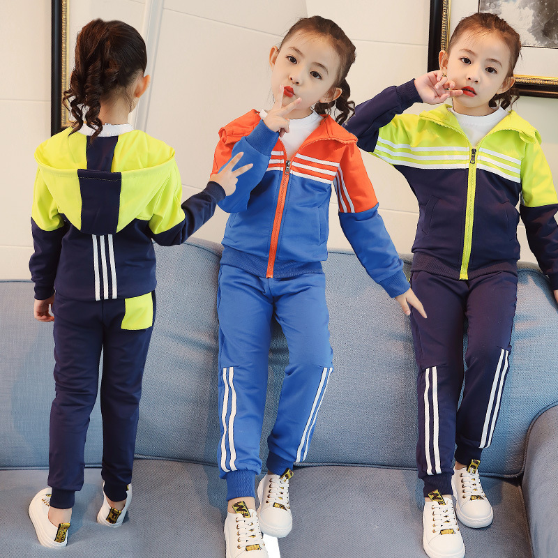 Childrens Garment Autumn Clothing Suit 2017 New Pattern Athletic Catamite And Autumn Season Long Sleeve 2 Pieces<br>