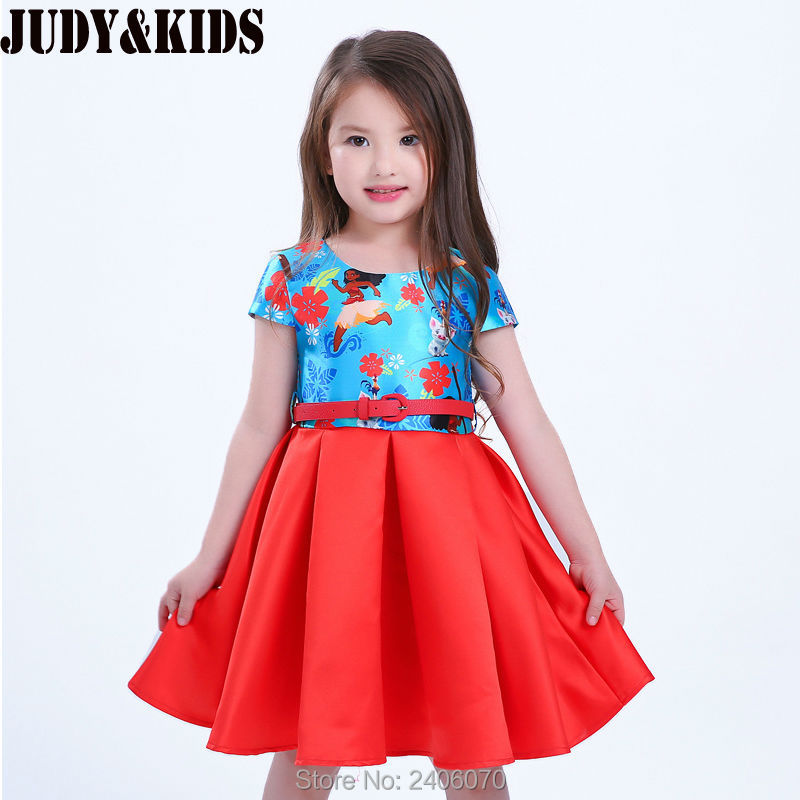 Baby Girl Princess Elegant Dress rainbow cartoon summer flower dresses Costume For Children teenage party clothing red dress<br><br>Aliexpress
