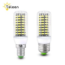 TSLEEN E27 5733 Led Lamps 220V LED Lights Corn Led Bulb Christmas lampada Cheap Chandelier Candle Lighting 42 64 80 108 136 leds