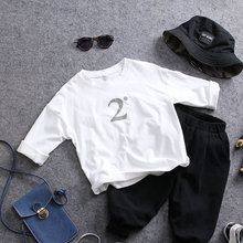 only t shirt 1pc new 2018 spring boys O neck loose t shirt casual fashion style boys long sleeve t shirt kids clothing(China)