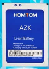 AZK 3000mAh 100% New Replacement HT7 Battery For Homtom HT7 HT7 Pro Cell Phone Battery +TRACKING CODE
