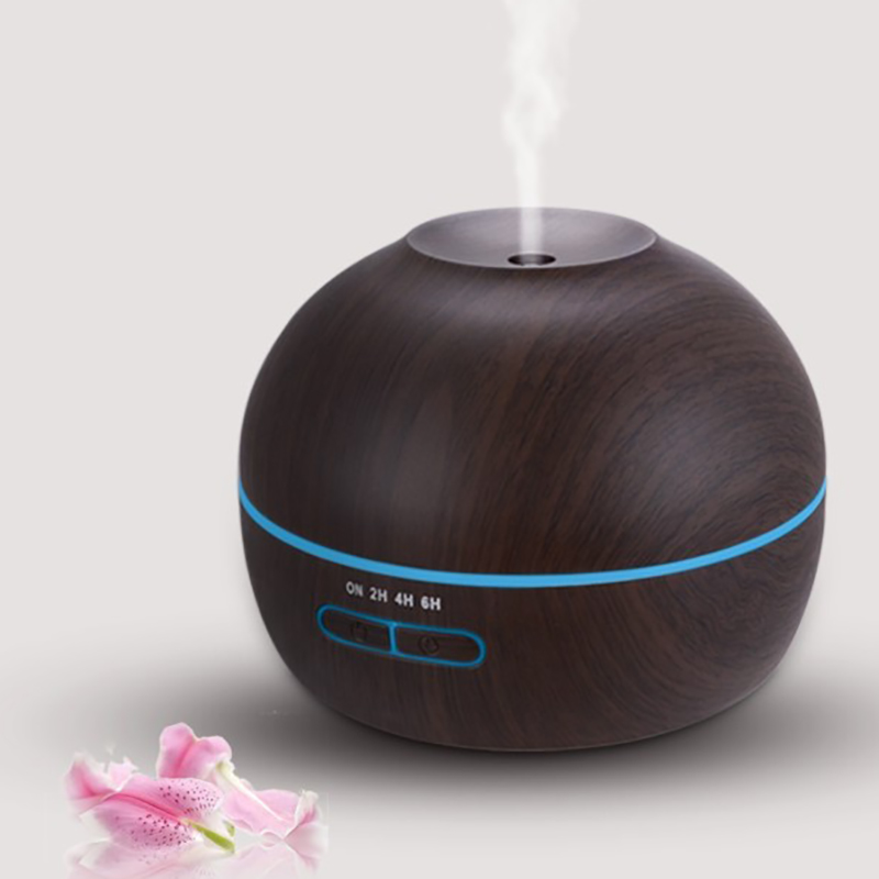 Wood grain ultrasonic aromatherapy diffuser, cool mist aroma air humidifier, essential oil diffuser, the best Christmas gift<br>