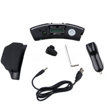 New Convenient Steering Wheel Bluetooth car kit Handsfree speaker Headset Car MP3 Player FM Transmitter Supports TF Card