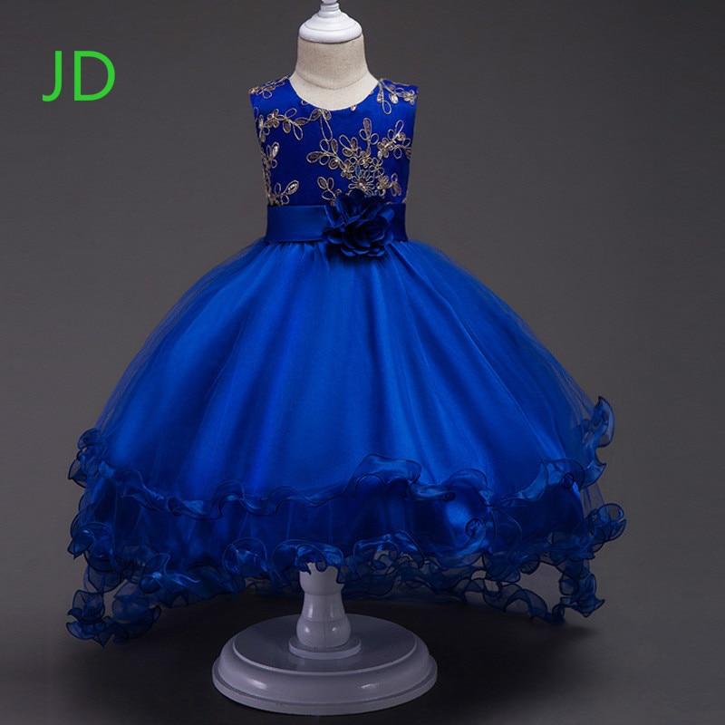 New Girl Wedding Flower Girl Dress Children Bronzing Gauze Dress Dress In The Wild<br>
