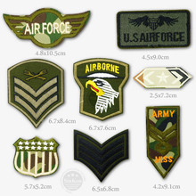 U.S AIRFORCE AIRBORNE ARMY Iron On Patches Badge Embroidery Patch Badges Applique Clothes Clothing Sewing Supplies Decorative