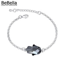 BeBella new fatima hand bracelet made with Austrian crystals from Swarovski in 3 colors for women gift 2017(China)