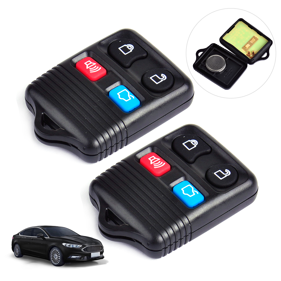 4 Buttons Remote Case Shell FOB for Ford Taurus 2002 2003 2004 2005 2006 2007
