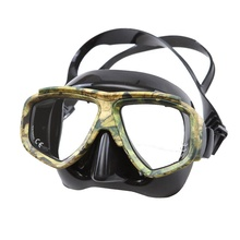 Disguise Camouflage Scuba Adults Mask Myopic Optical Lens Snorkeling Gear Spearfishing Swim Goggles Diving Swimming Mask(China)