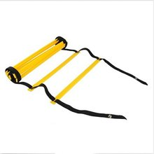 8-Rung 4M Agility Ladder Coordination Ladder for Speed Football Soccer Football Fitness Feet Training, Yellow + Black
