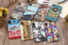 Retro Graffiti Motorcycle Bus Cover For iPhone X Case Top Quality Plastic Hard Shell For iPhone 6 6s 7 8 6P 7P 8P 6s Plus Skin(China)