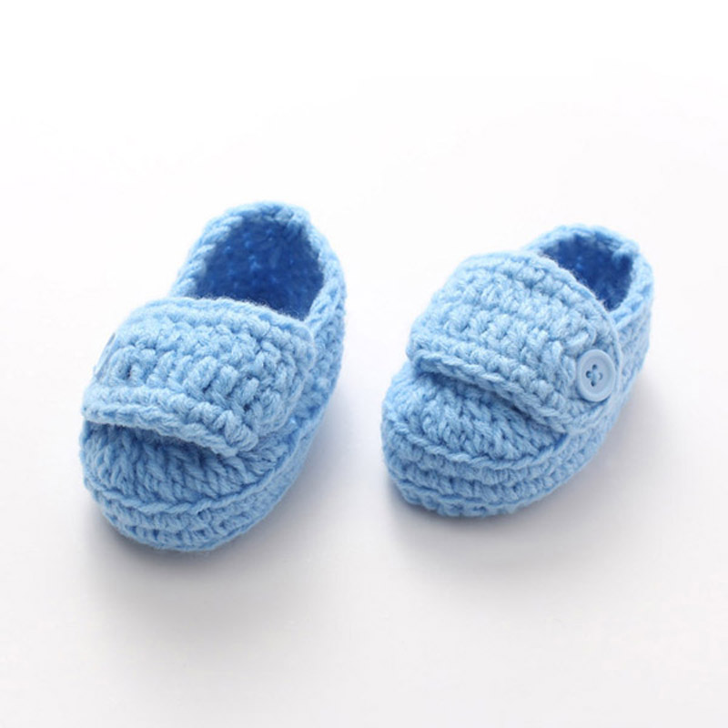 Handmade Knitted Baby Boy Loafers Shoes Crochet Toddler Booties Socks Soft Newborn First Walkers 5 Pairs XZ052(China (Mainland))