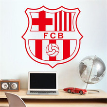 New Wall Art DIY Home Decoration Removable Football Champions League Team Logo Wall Stickers Living Room Bedroom Den(China)