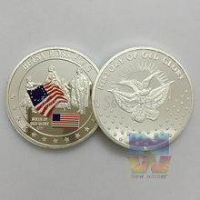 1PCS American Besty Ross Flag Souvenir Coins 1 Oz 999 Silver Plated U.S. History of Old Glory Sample Coin