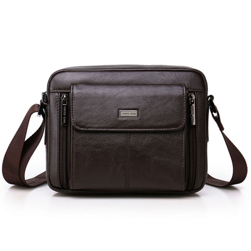 New Fahion Men Top Quality Genuine Leather First Layer Cowhide Messenger Shoulder bag Business Bag Casual Travel bag<br>