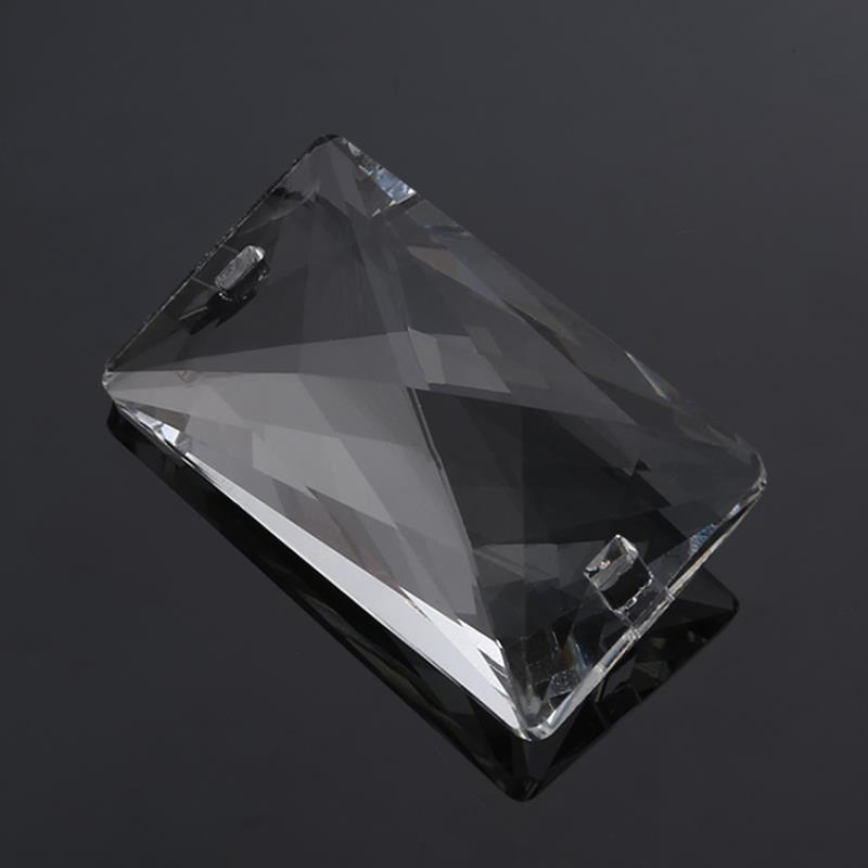 Clear Crystal Chandelier Lamp Part Drop Prism Rainbow Pendant Beads For Home Decoration 50*30mm