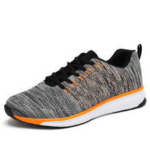 Joomra Top Quality Flywire Light Running Shoes Men Sports Sneakers breathable mesh outdoor athletic shoes Adults Trainer(China)
