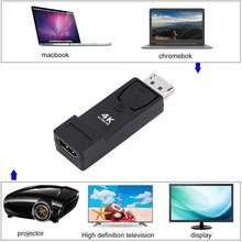 Mini DP to HDMI Cable Converter Adapter Ultra HD 4K x 2K Resolution 3D Audio Video Converter for Laptop PC TV 2017 New Arrival(China)