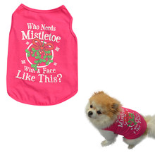 New Fashion Pets Cotton dog Vest Christmas Cute Comfortably Dog Pet Vest Puppy Cotton T Shirt Pink Femal Cute dog clothes summer(China)
