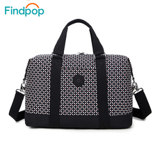 Findpop New Nylon Women's Travel Bag 2017 Fashion Casual Plaid Travel Totes Large Capacity Waterproof Luggage Travel Duffle Bags(China)