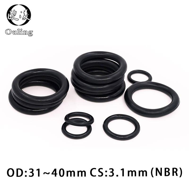110 mm x 2,65 mm de goma en color negro que contiene juntas t/óricas aceite sellada arandelas juntas de 5 piezas