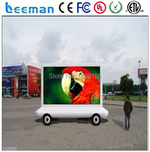 LEEMAN Mobile LED Trailer, Trailer Mounted Folding LED Display, Advertising Vehicle Smart Mobile LED Billboard Trailer