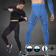 New Men Sports Apparel Compression Under Base Layer Trousers Long Pants