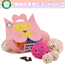 Cat toys  Crazy rolling series Wood day smartweed fruit cane hybrid  ball