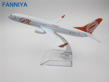 16cm Metal Model Plane Brazil Air GOL Airlines Boeing 737 B737 800 Airways Aircraft Airplane Model w Stand Crafts(China)