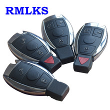 RMLKS 3 4 Button Replacement Remote Key Shell Case Fob Fit Mercedes Benz BGA Smart Key Card Cover Uncut Blade