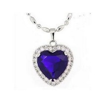 2016 hot sell high quality ocean heart style shiny crystal ladies`925 sterling silver pendant necklaces jewelry gift(China)