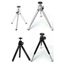 Mayitr 1pc Poratble Extendible Mini Tripod Black Silver Desktop Tripod Stand Holder Suitable For Canon Digital Camera Camcorder