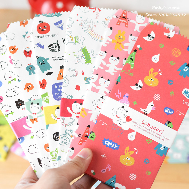 10PCS/LOT Vintage Envelope Cute Hello Animals Party Colorful Graffiti Envelopes Colorful Long Paragraph Paper Envelope(China)