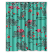 Amazing Flamingos Pink Customized Unique Fabric Curtain Bathroom Products Waterproof Shower Curtains 48x72, 60x72, 66x72 inches